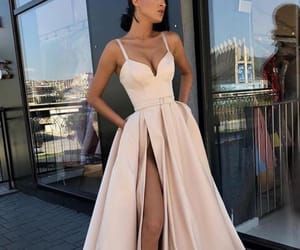 dress, gorgeous, and peachy image