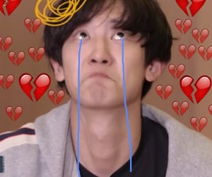 Chen, hearts, and meme image