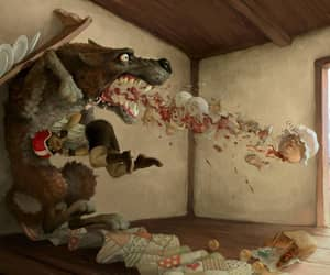 art, fairy tales, and little red riding hood image