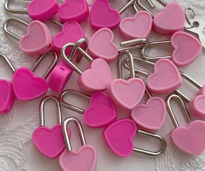 hearts, pink, and soft image