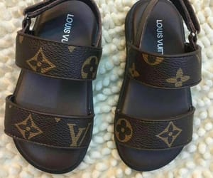 kids, Louis Vuitton, and sandals image
