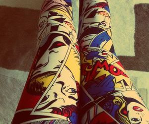 comic, cool, and leggings image