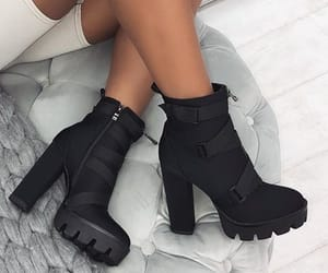 ankle boots, shoe, and white image