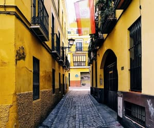 cities, seville, and street image