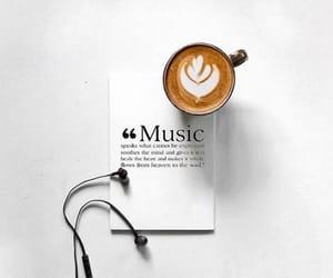 aesthetic, coffee, and earphones image