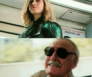 captain marvel and stan lee image