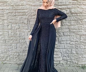 fashion, glitters, and hijab image