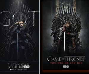 game of thrones, jon snow, and ned stark image