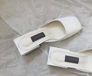 cream, heels, and style image