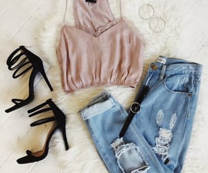 fashion, pants, and shoes sandals image