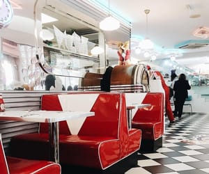 american, restaurant, and vintage image