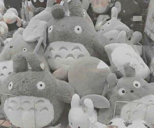 totoro, grey, and aesthetic image