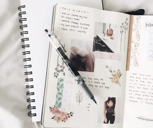 journal, planner, and bullet image