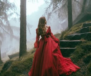 red, princess, and dress image