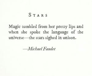 quotes, stars, and magic image