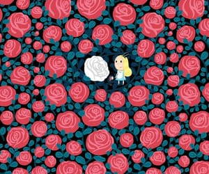 rose, wallpaper, and alice image