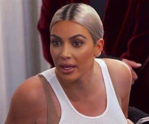 kim kardashian, reaction, and yelling image