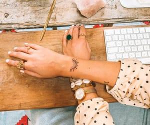 bohemian, small tattoo, and yogi image