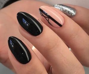 nail art, nails, and magnetic designs image