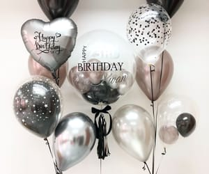 balloons and happy birthday image