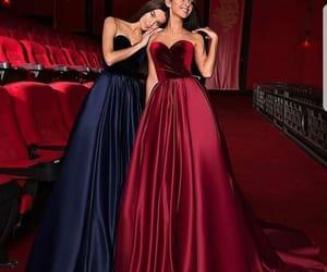 dress, blue, and vestidos image