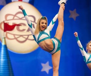 cheer, sport, and stunt image