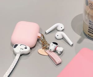 pink, snoopy, and soft image