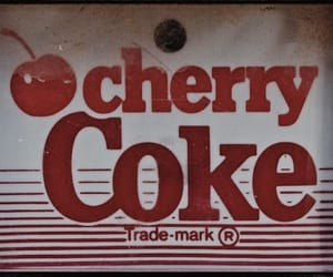 red, cherry, and coke image