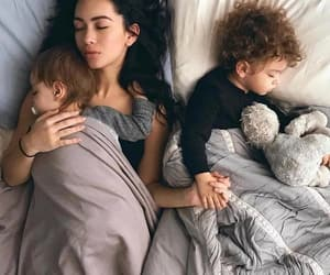 family, baby, and mother image