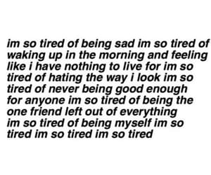 sad and tired image