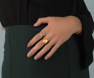 black, rings, and style image