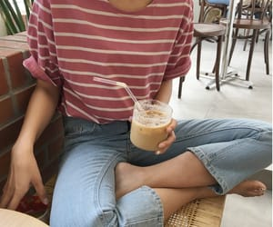 asian, ice coffee, and cafe image