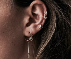 earrings, accessories, and stars image