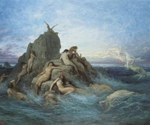 art, gustave dore, and mermaid image