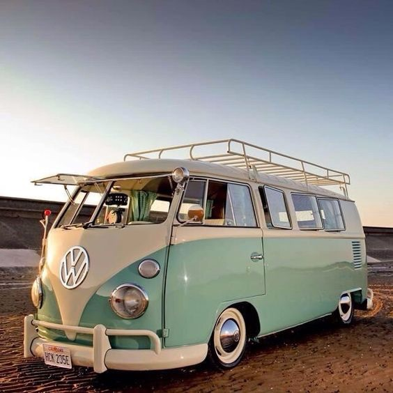 car, green, and volkswagen image