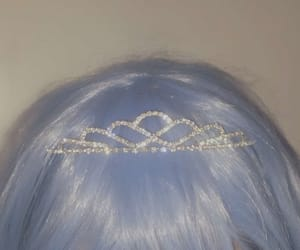 aesthetic, hair, and blue image