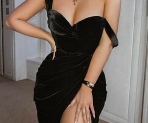 black, clothes, and elegance image