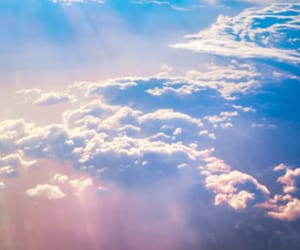 clouds, sky, and pretty image