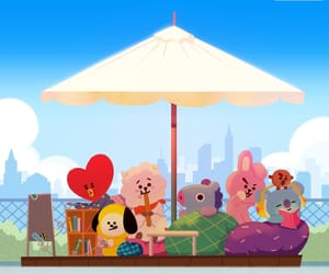 rj, cooky, and 우주스타 image