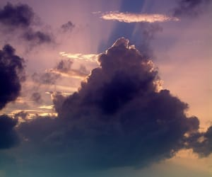 clouds, sky, and sea image