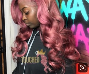 frontal, hair, and pink image