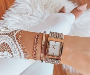 fashion, woman girl, and watch image