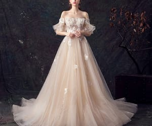 bridal, elegant wedding dress, and bride image