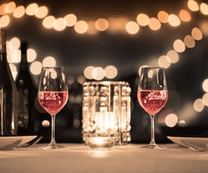 dating, romantic, and luxury dinner image