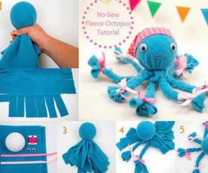 baby, octopus, and diy image