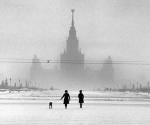 moscow, black and white, and russia image