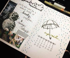 april, art, and calendar image