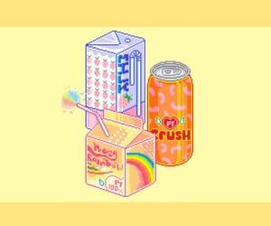 header, orange, and pixel image