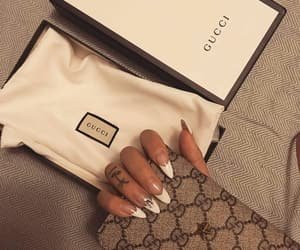 nails, girl, and gucci image