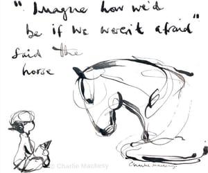 art, horse, and beautiful image